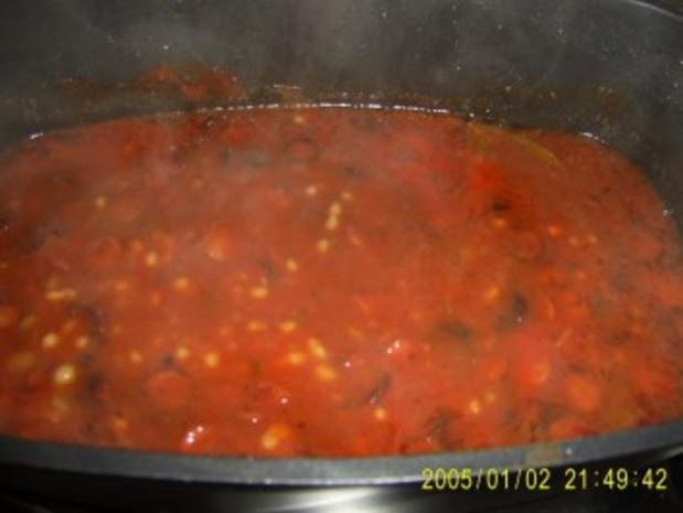Bohnen Suppe mit Debreziener - Rezept - Bild Nr. 7