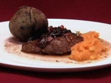 Steaks von Strauß und Känguru mit Kürbis-kartoffelpüree (Froonck Matthée) - Rezept