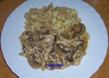 Kochen: Hähnchen-Geschnetzeltes mit Pilzen - Rezept