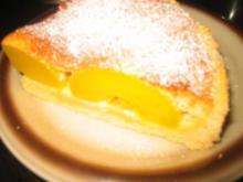 Backwaren: Pfirsichkuchen mit Überzug - Rezept