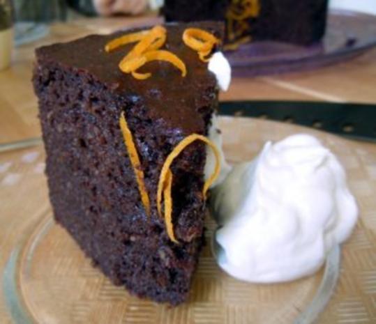 Schokoladen-Orangen-Kuchen - Rezept
