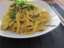Mie-Nudeln mit Currypilzen - Rezept
