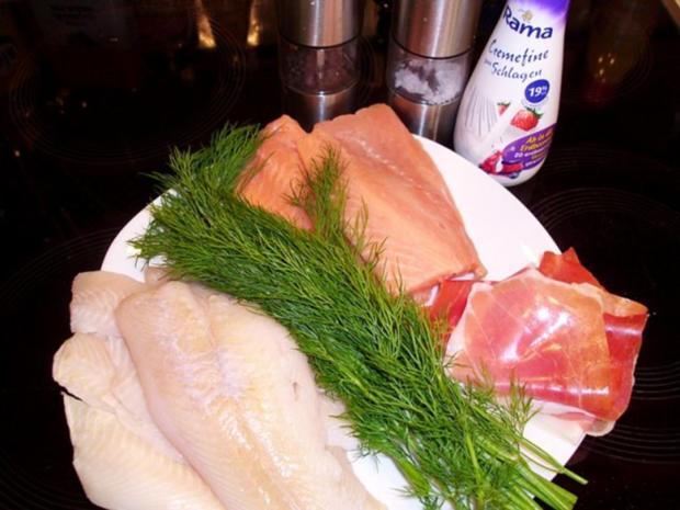 Fisch: Nordische Schollen-Lachs-Röllchen - Rezept - Bild Nr. 2