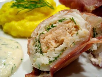 Rezept: Fisch: Nordische Schollen-Lachs-Röllchen