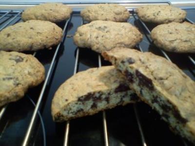 XXL Schoko Cookies - Rezept