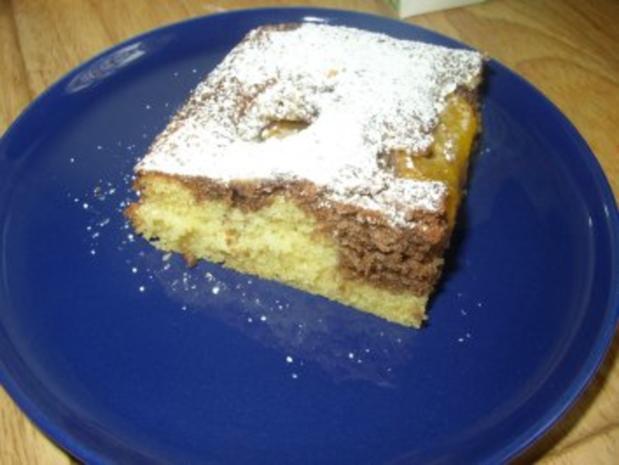 Marmorkuchen mit Pfirsichen - Rezept