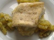 Steinbeisserfilet auf Kartoffel-Fenchel-Püree und Steckrüben - Rezept