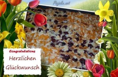 Kuchen : Kirsch - Mandarine - Rezept