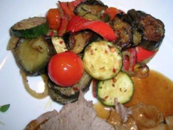 Lauwarmer Antipasti-Salat als Beilage zu meiner Lammkeule - Rezept