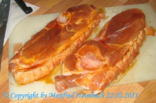 Fleisch – Holzfällersteaks mit Farmfries und Gurkenschmand - Rezept