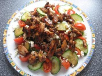 Fit in den Frühling Salat mit Hähnchenbruststreifen - Rezept