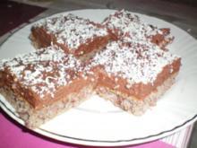 Nusskuchen mit Schokocreme - Rezept