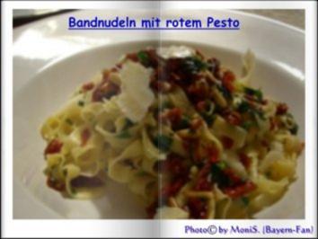 Bandnudeln mit rotem Pesto - Rezept