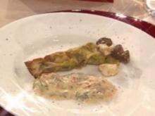 Börek-Zigarre vom Lamm und Schafskäse mit Dipp à la Steffen Henssler - Rezept