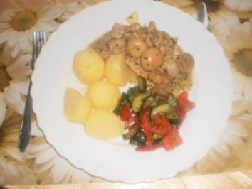 Rezept: Pilz-Schweinefleisch-Pfanne