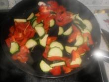 geschwenkten Gemüse - als Beilage zum Wolfsbarsch und Pilz-Schweinefleisch-Pfanne - Rezept