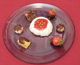 Joghurt-Vanille-Mousse mit Zitronen-Sorbet (Michaela Schaffrath) - Rezept