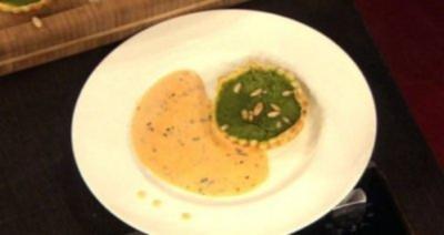 Spinat-Quiche mit Thymiansoße (Heike Henkel) - Rezept