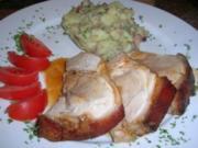 Spanferkel-Krustenbraten mit lauwarmem Kartoffelsalat (deftige Hausmannskost: unsere Art) - Rezept