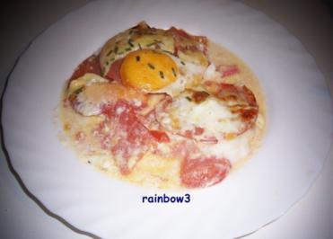 Auflauf: Eier auf Tomaten - Rezept