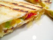 Snack: Quesadilla afrutado - Rezept