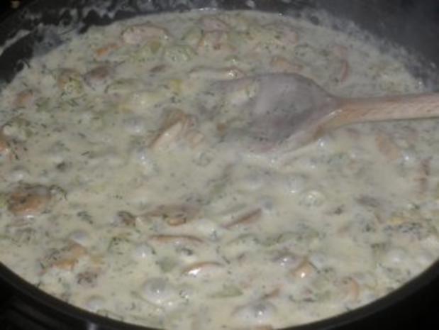 Schnitzelchen mit Pilz-Schmorgurken-Gemüse - Rezept - Bild Nr. 6