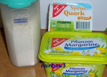 Backen: Dinkel-Quark-Taschen, gefüllt nach Wunsch - Rezept