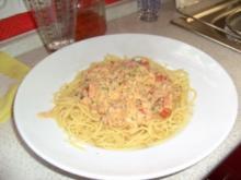 Meerresfrüchte mit spaghetti - Rezept