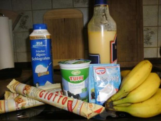 Bananen- Split- Torte mit Eierlikör - Rezept - Bild Nr. 8
