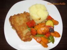 Buntes Gemüse mit Kartoffelstampf und Fisch - Rezept