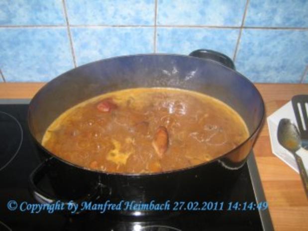 Fleisch – Manfred's Schweinekrustenbraten in Pfifferlingsrahm - Rezept - Bild Nr. 3