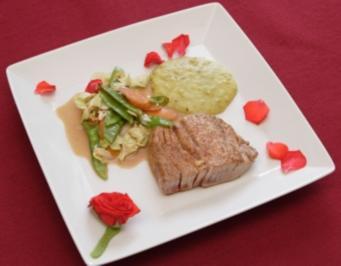 Thunfischfilet mit Wokgemüse (Leonard Diepenbrock) - Rezept