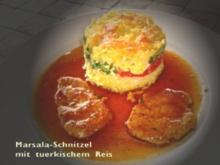 Marsala-Schnitzel mit Türkischem-Reis - Rezept