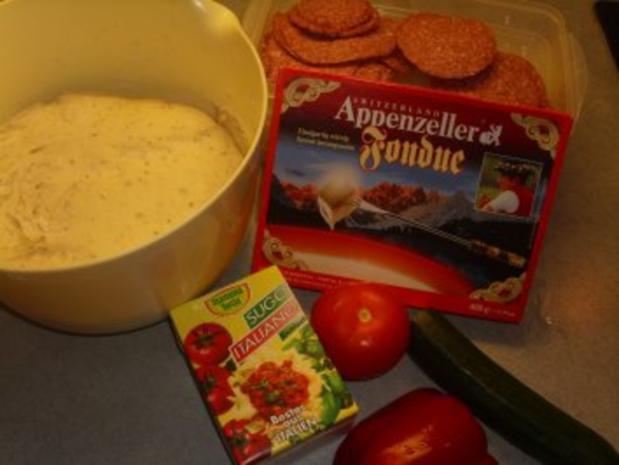 Pizza mit Käsefondue überbacken - Rezept - Bild Nr. 2