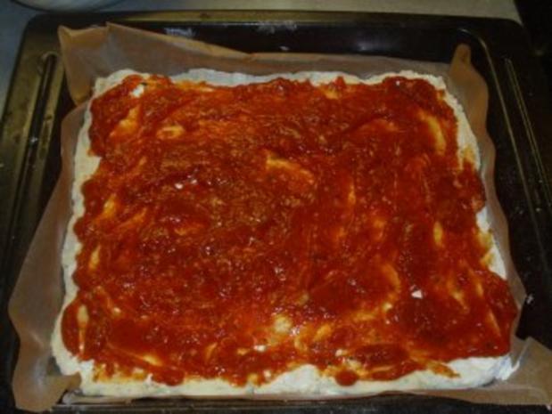 Pizza mit Käsefondue überbacken - Rezept - Bild Nr. 4
