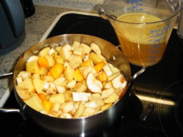 Pastinaken-Butternut-Apfelsuppe - Rezept - Bild Nr. 8