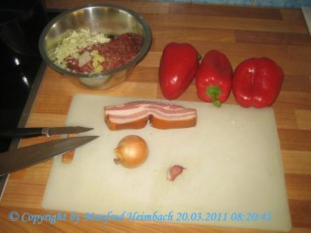 Fleisch – Spicy filled red Pepper with beef  - feurig gefüllte Paprikaschote mit Hackfleis - Rezept - Bild Nr. 5