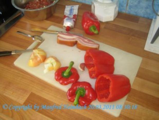 Fleisch – Spicy filled red Pepper with beef  - feurig gefüllte Paprikaschote mit Hackfleis - Rezept - Bild Nr. 4