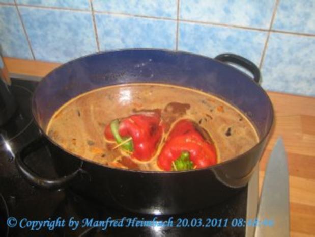 Fleisch – Spicy filled red Pepper with beef  - feurig gefüllte Paprikaschote mit Hackfleis - Rezept - Bild Nr. 2