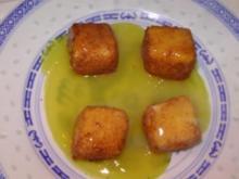 Feta-Würfel in Orangensauce - Rezept