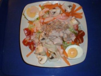 Hab Dich Lieb - Salat !  Warum steht unten - Rezept