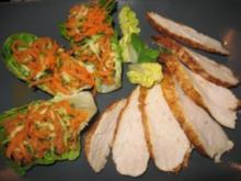 Salat im Salat ;o) ...mit Hähnchenbrüstchen - Rezept