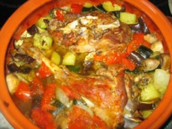 Lammkeule mit Gemüse im Römertopf - Rezept