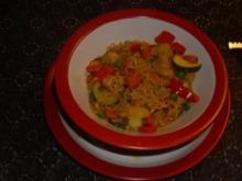 Pfannnengerichte: Pfannengemüse mit Nudeln - Rezept