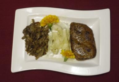 Rinderfilet mit Austernpilzen in Gorgonzolasoße (Klaus Baumgart) - Rezept