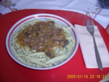 Hackfleisch-Champignons-Sahne-Soße - Rezept