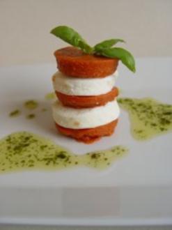 Tomate – Mozzarella mit Basilikumöl - Rezept