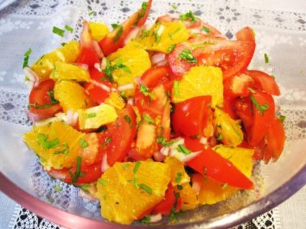 Tomaten-Orangen-Salat  ... - Rezept - Bild Nr. 7
