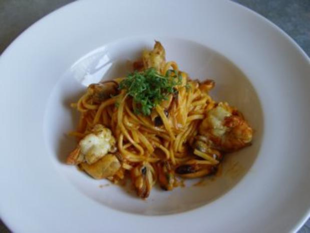 Linguine con cozze picante - Rezept