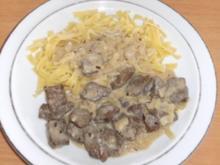 Fleisch: Leber mit Estragonsauce - Rezept